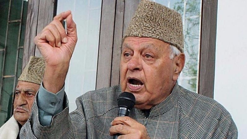 Former Jammu and Kashmir Chief Minister and National Conference leader Farooq Abdullah.