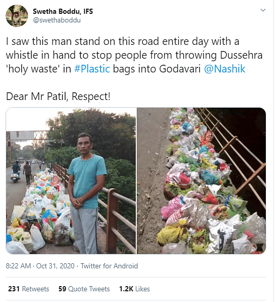 Twitter Salutes Man For Not Letting People Dump Garbage In River