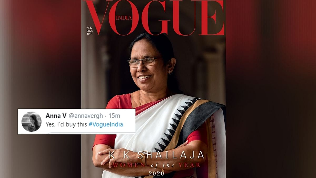 Twitter Celebrates as KK Shailaja Graces The Cover of Vogue India