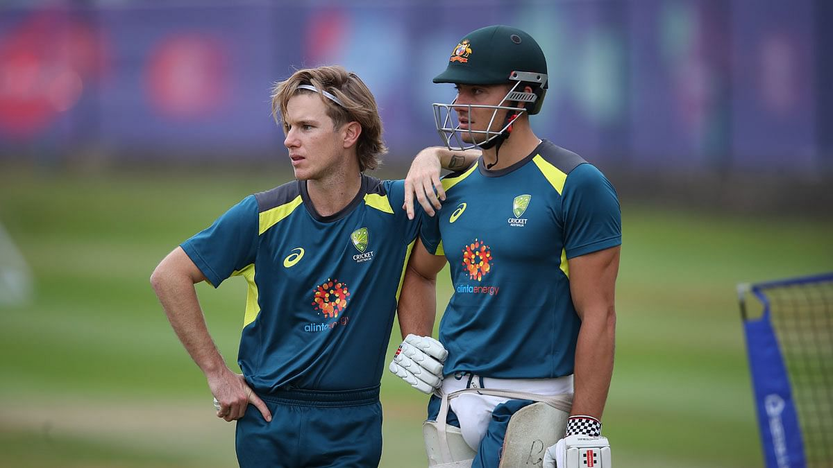 Adam Zampa and Marcus Stoinis