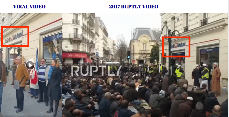 Left: Viral video. Right: 2017 Ruptly video.