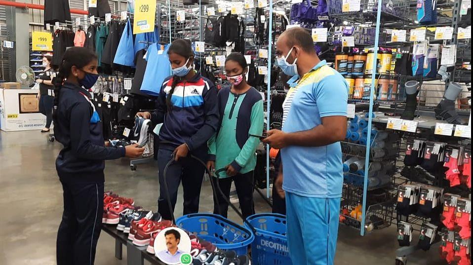 Dr Senthilkumar sponsored running shoes from Decathlon.