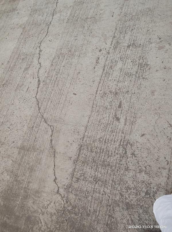 Cracked roads as of 3 November.