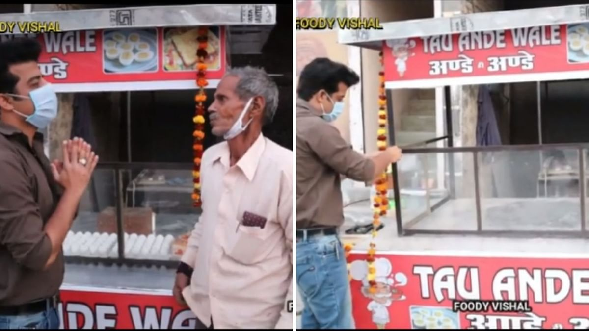 Vlogger Surprises 'Omelet Wale Uncle' With New Cart, Steals Hearts