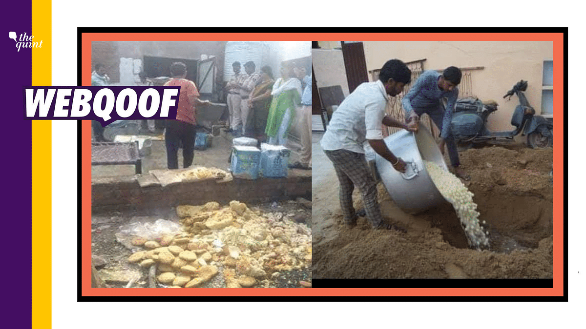 A set of unrelated images of sweets being dumped has been falsely shared as RJD workers disposing off rasgullas after losing the Bihar elections.