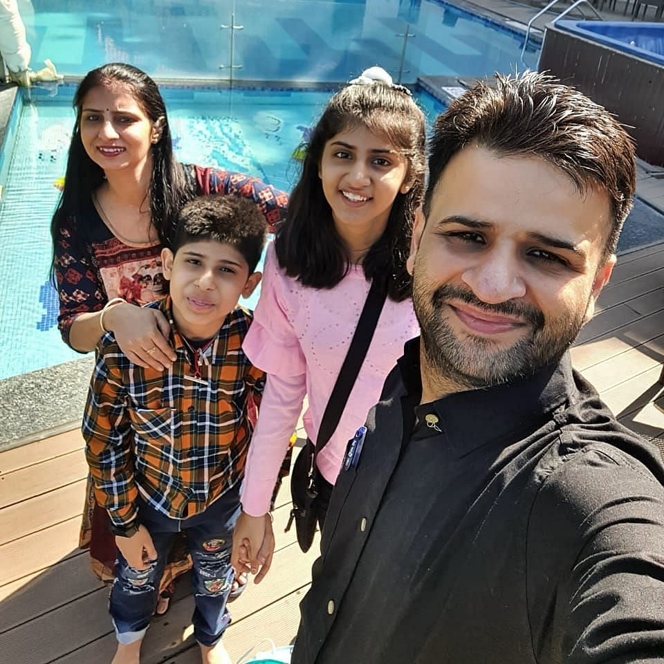 Saransh with his family.