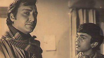 Bengali cinema's inimitable duo Feluda and Topshe in <i>Sonar Kella.</i>