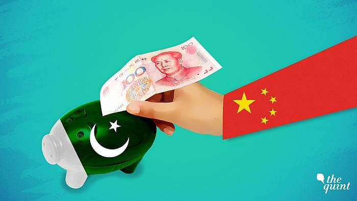 Artistic representations of Chinese flag and Pakistan flag used for representational purposes.
