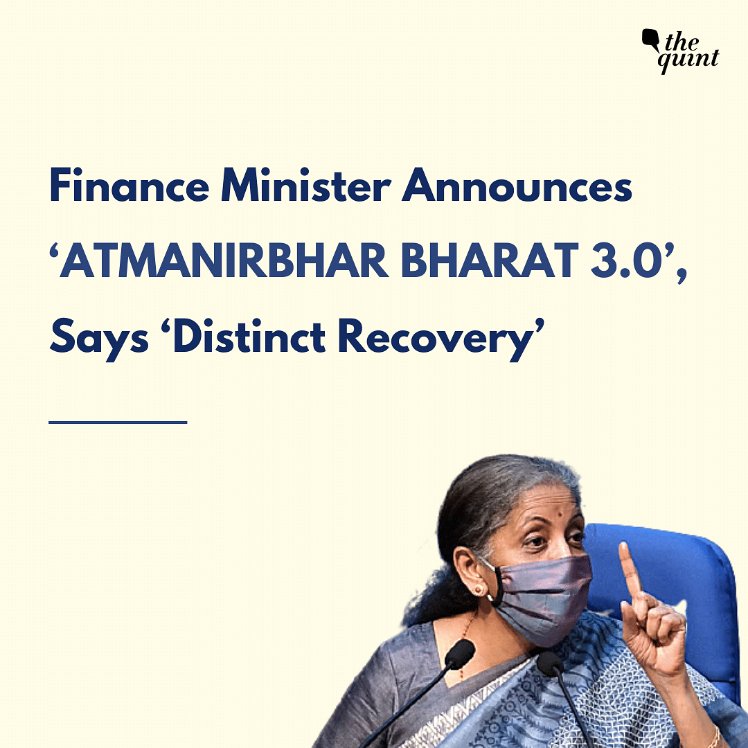 FM Announces Atmanirbhar Bharat 3.0, Includes Job Creation Scheme