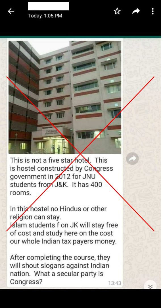 JNU & Jamia Give Free Accommodation to J&K Muslim Students? No!