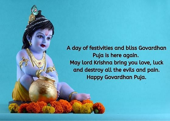 Goverdhan Puja wishes in English