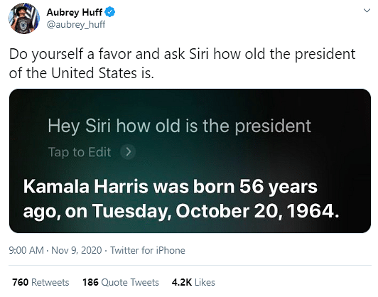 Siri Thinks Kamala Harris Is US President, Netizens Amused