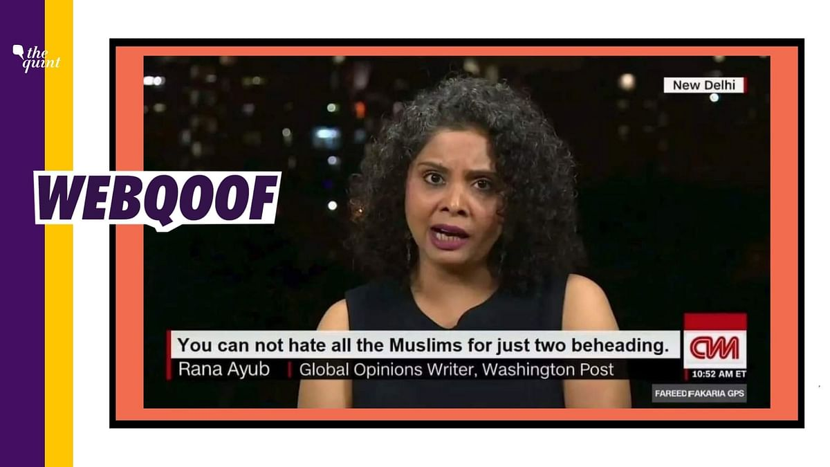 Rana Ayyub's Image Altered to Show Fake Remark on France Violence