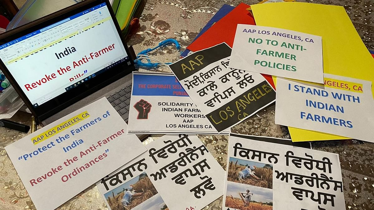 NRIs Rally in Support of Farmers Over Contested Farm Bills