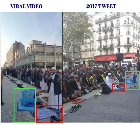 Left: Viral video. Right: Tweet uploaded in 2017.