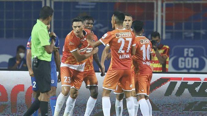 FC Goa celebrate a goal
