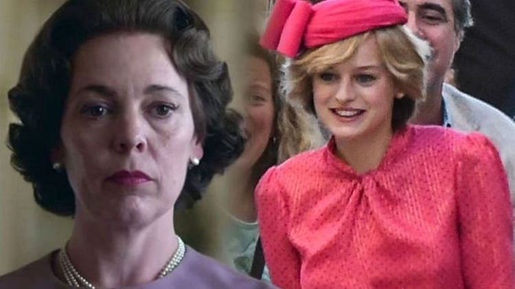 Olivia Colman and Emma Corrin from The Crown.