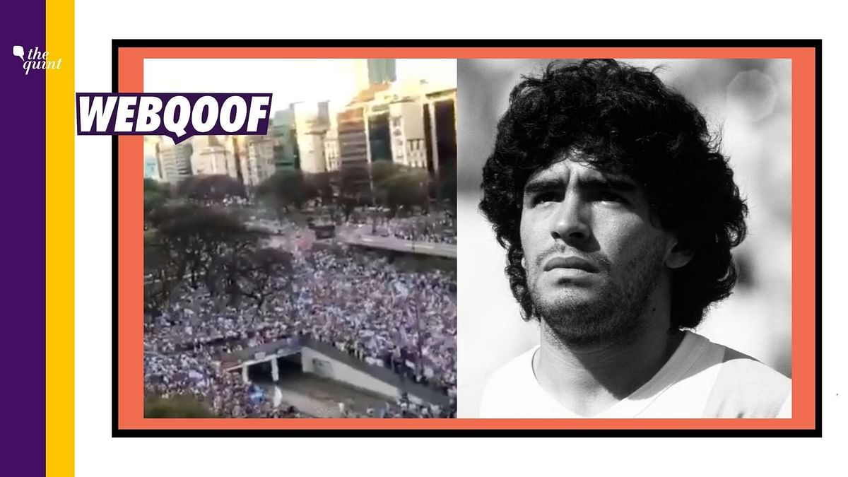 Video From 2019 Passed Off As Football Legend Maradona's Funeral