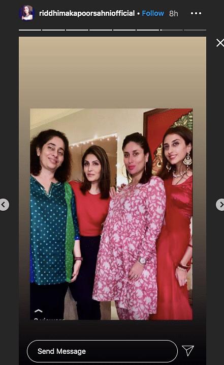Kareena Kapoor with her family.