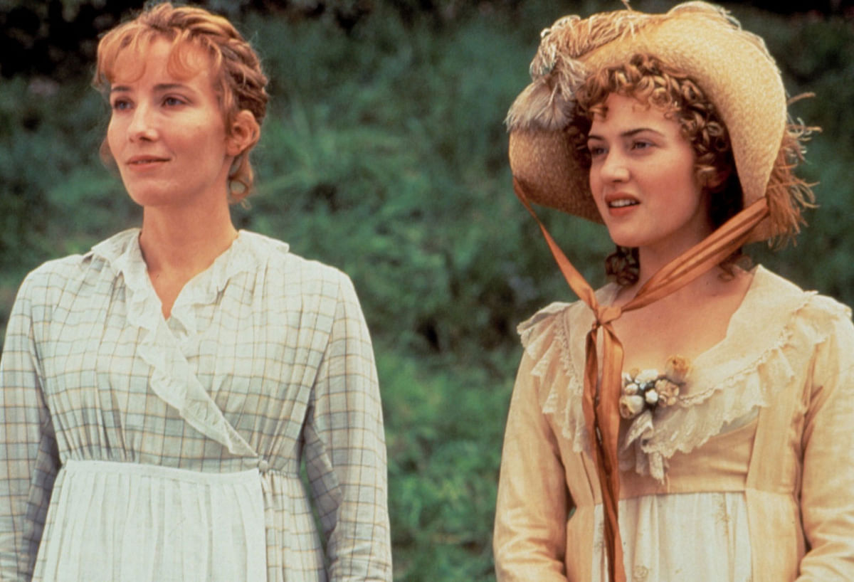 Emma Thompson and Kate Winslet in Sense and Sensibility.
