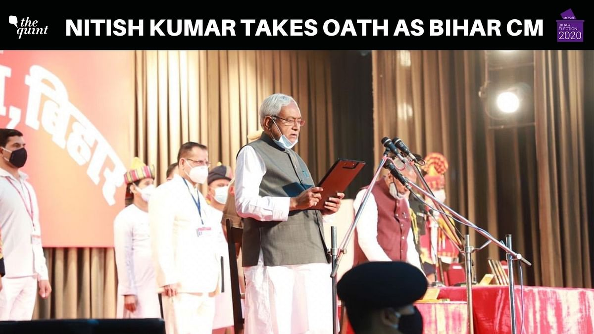 Nitish Takes Oath as Bihar CM; Refuses to Comment on Sushil Modi