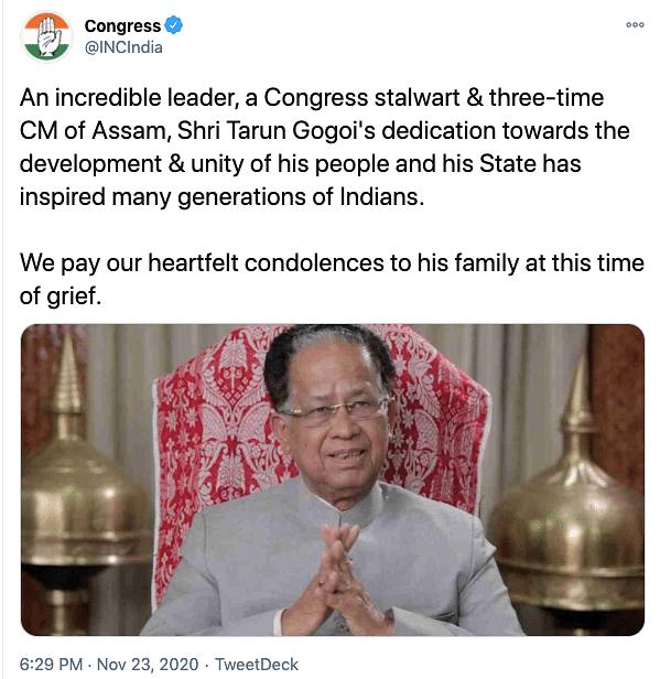 'Veteran Leader, Teacher': Modi, Rahul Pay Tributes to Tarun Gogoi