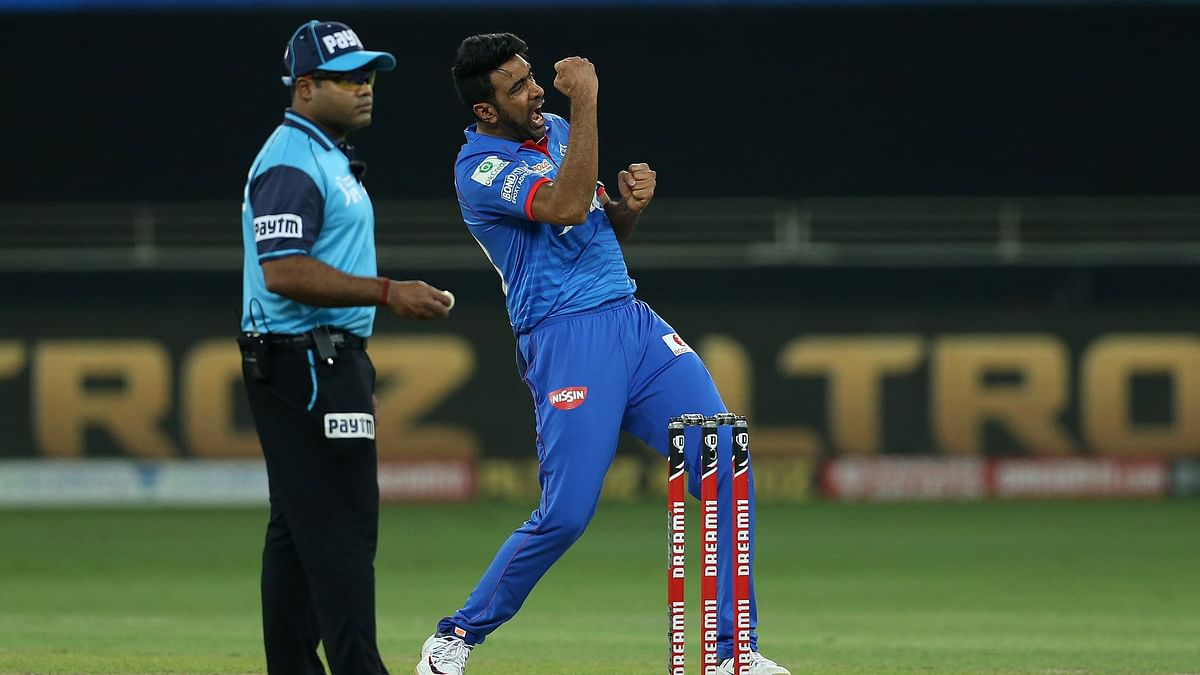 R Ashwin celebrates a dismissal against MI.