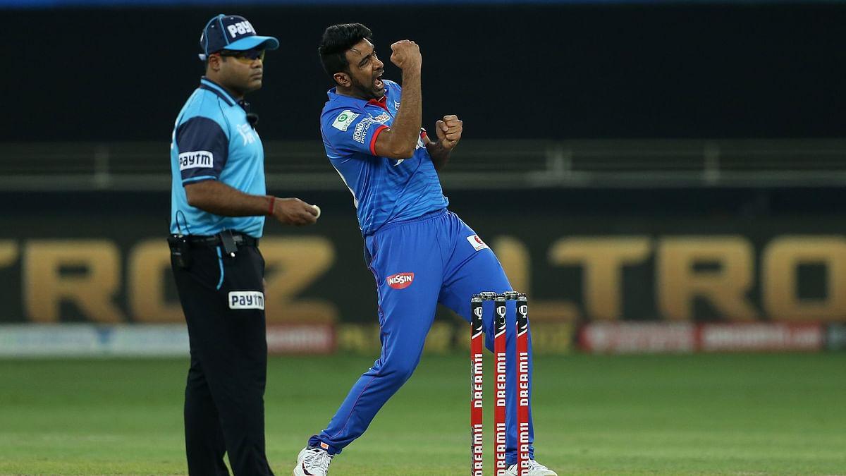 R Ashwin celebrates a dismissal against MI.