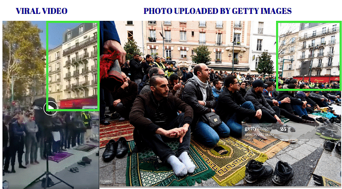 Left: Viral video. Right: Photo uploaded by Getty Images.