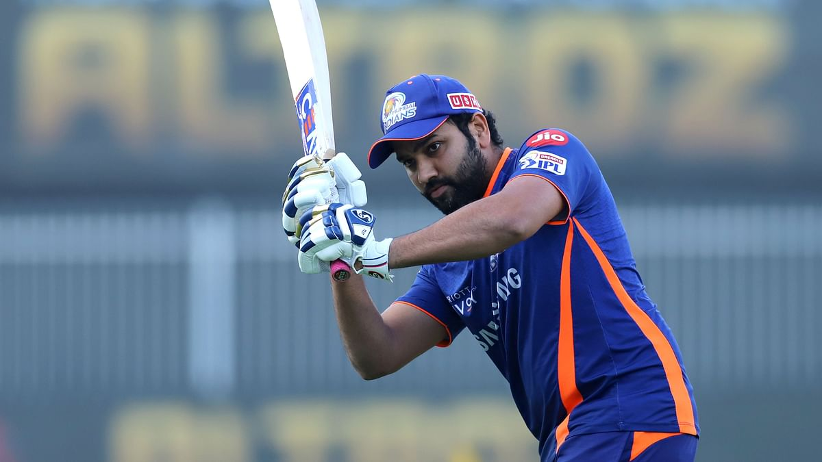 Rohit Sharma during a training session with the Mumbai Indians.