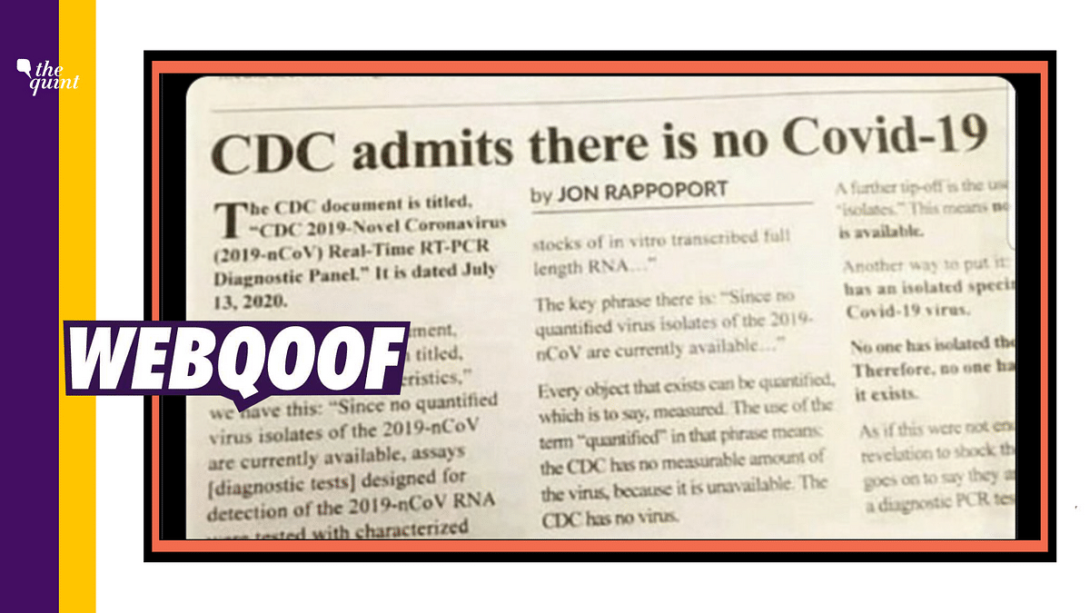 Report Falsely Claims  US CDC 'Admits COVID-19 Doesn't Exist'