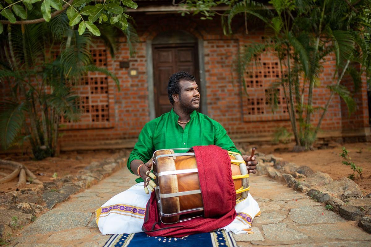 Meet  <i>thavil</i> artiste Adyar G Silambarasan