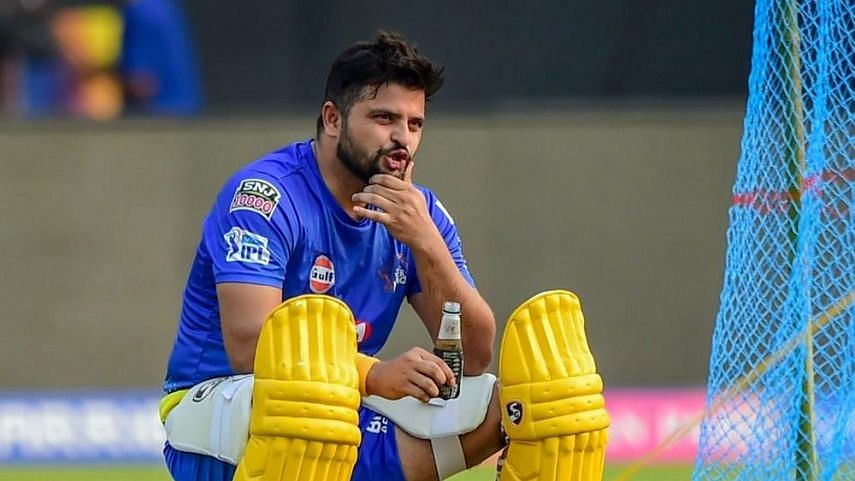Suresh Raina during a training session with Chennai Super Kings.