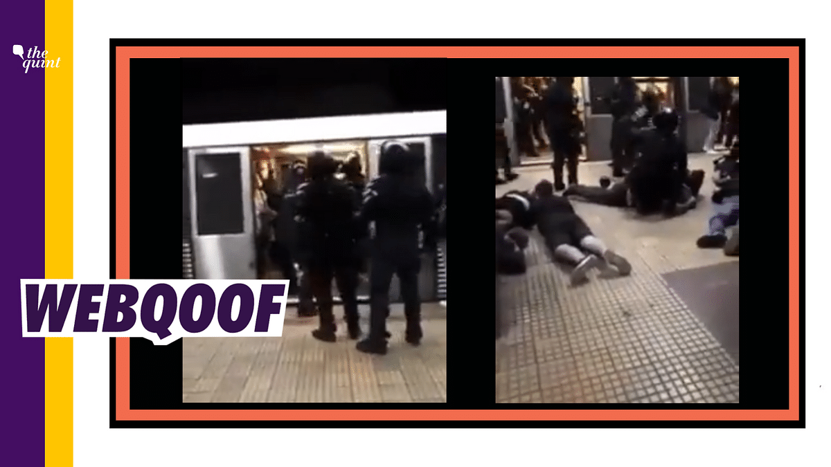 A video from Romania was shared with a false claim that French police arrested Muslims in a Paris metro for not wearing masks and spitting on passengers.