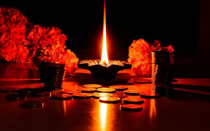 Happy Dhanteras 2020 greetings image for Facebook
