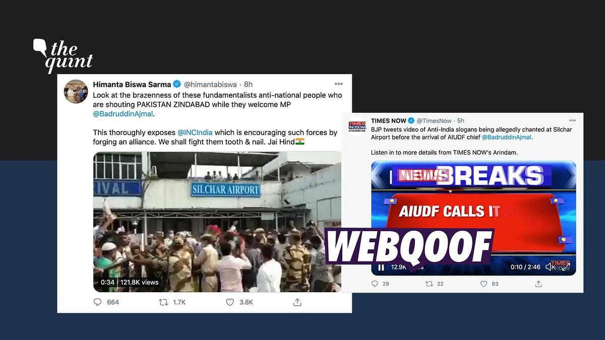 BJP Min Falsely Claims 'Pakistan Zindabad' Slogans Raised in Assam