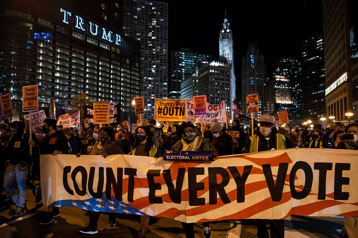 Protests in NY, Detroit, Portland, Arizona Before Election Results