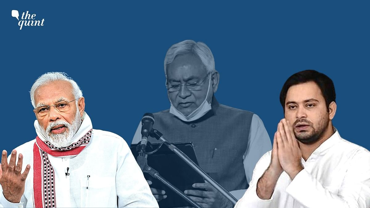 Prime Minister Narendra Modi, along with several senior leaders of the NDA, congratulated Nitish Kumar on taking oath as the chief minister of Bihar for the fourth straight term.