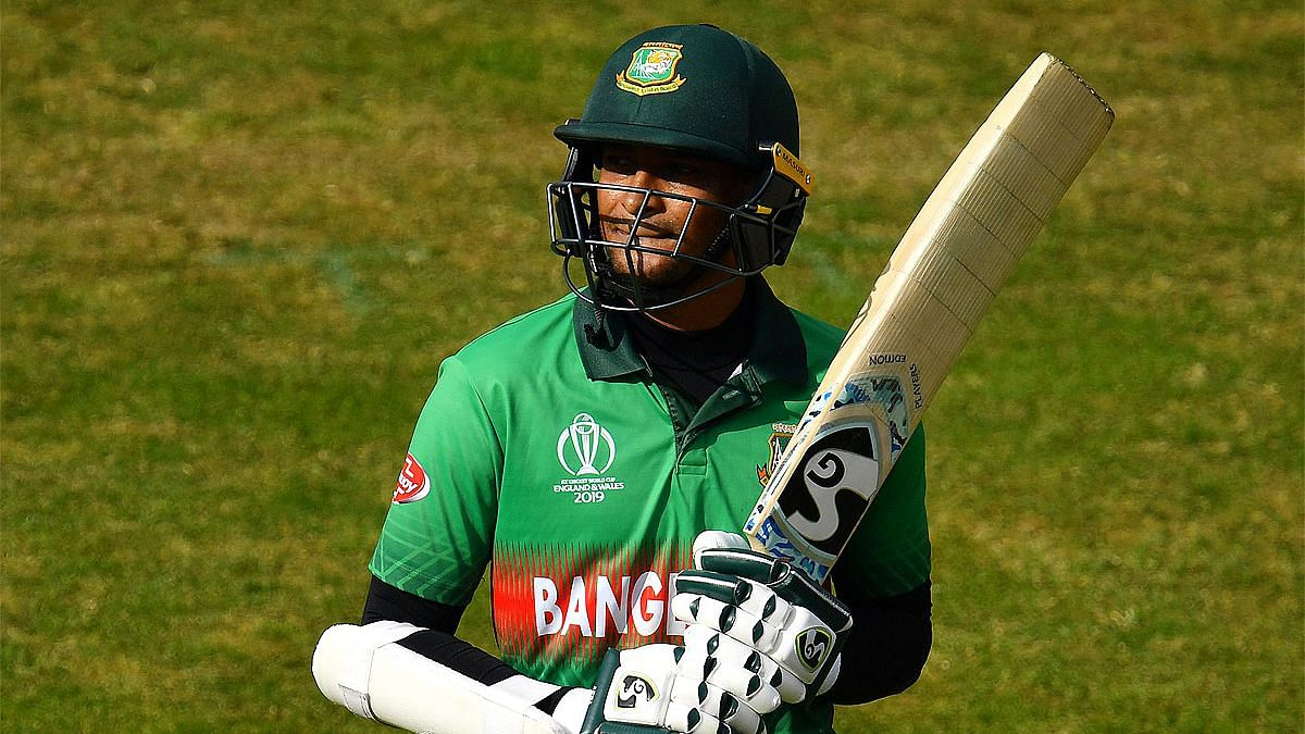 Shakib Al Hasan in action at the 2019 ODI World Cup.
