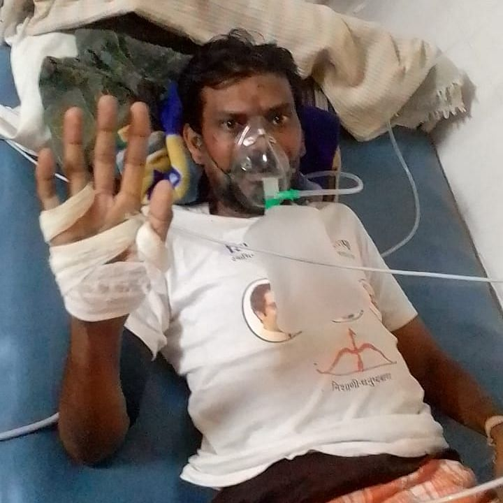 Late Ravindra Sapkale in Sion Hospital.