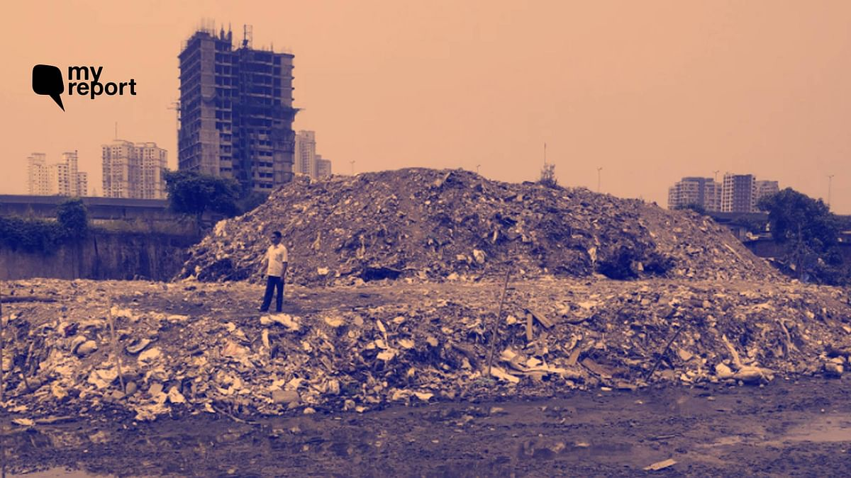 Salt pans have been littered with debris for nearly 2 years in Mumbai's intertidal areas.