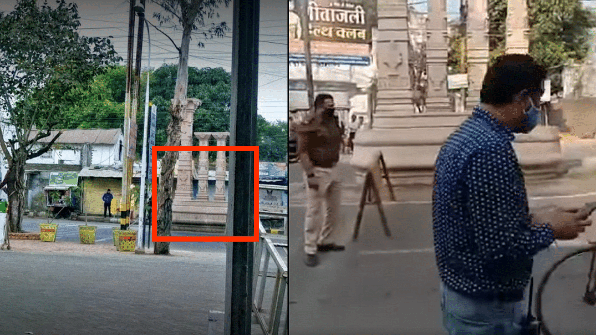 A comparison of Google Maps photo (L) and the viral video (R).