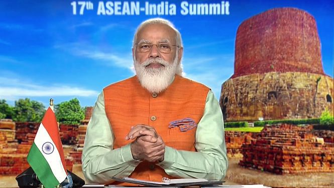 PM Modi Co-Chairs ASEAN-India Summit; Stresses Strengthening Ties