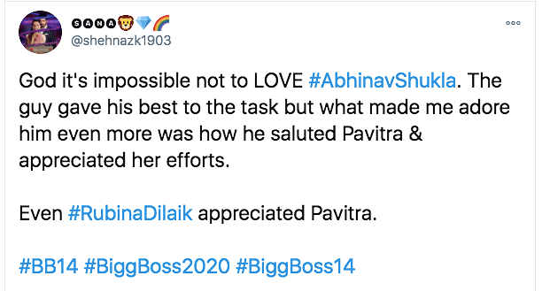 'BB14': Netizens Shower Praise As Abhinav Wins Immunity for Rubina