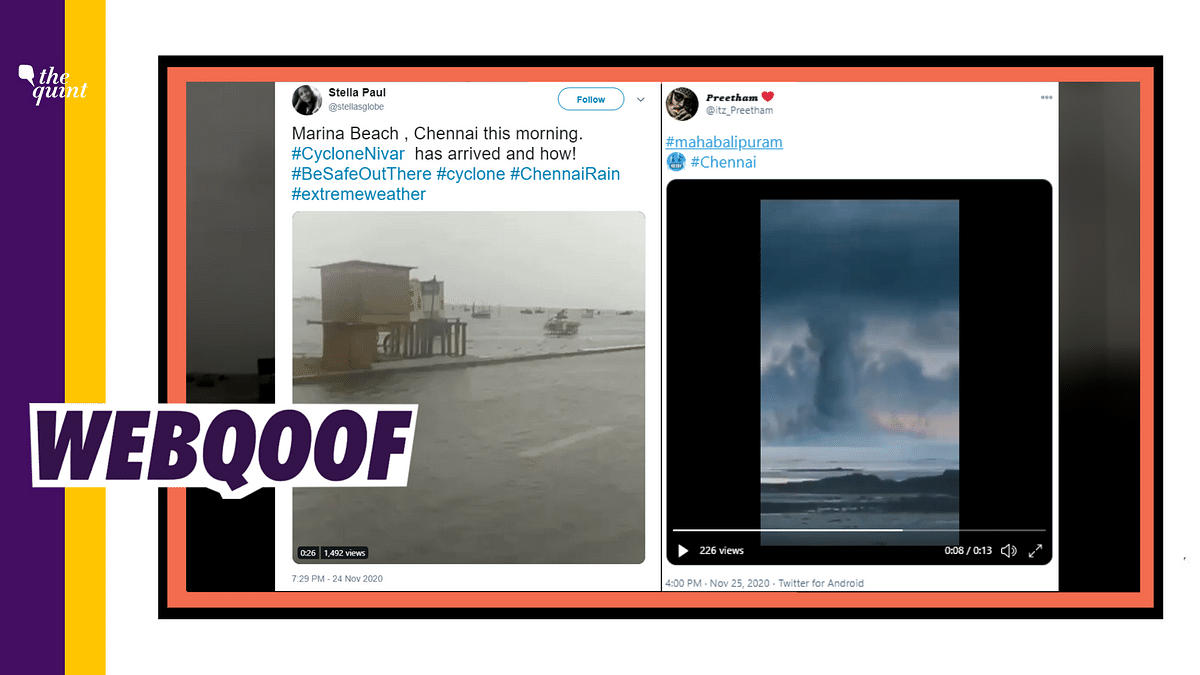 An old video from 2017 and a CGI simulation have been falsely shared as visuals of Cyclone Nivar in Tamil Nadu.