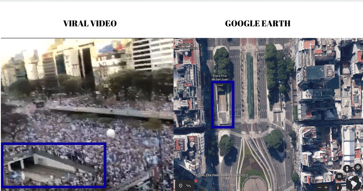 Left: Viral video. Right: Google earth.