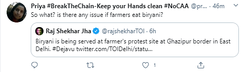 Biryani Has No Religion: Twitter Reacts To Farmers' Protest Video