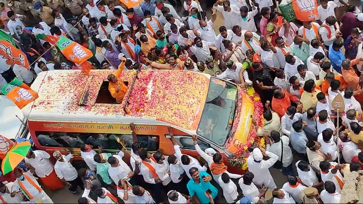 BJP's Vel Yatra Resumes Without Permission, Causing Traffic Snarls