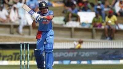 Indian batsman Shubman Gill in action during India's tour of New Zealand (Photo: Surjeet Yadav/IANS)