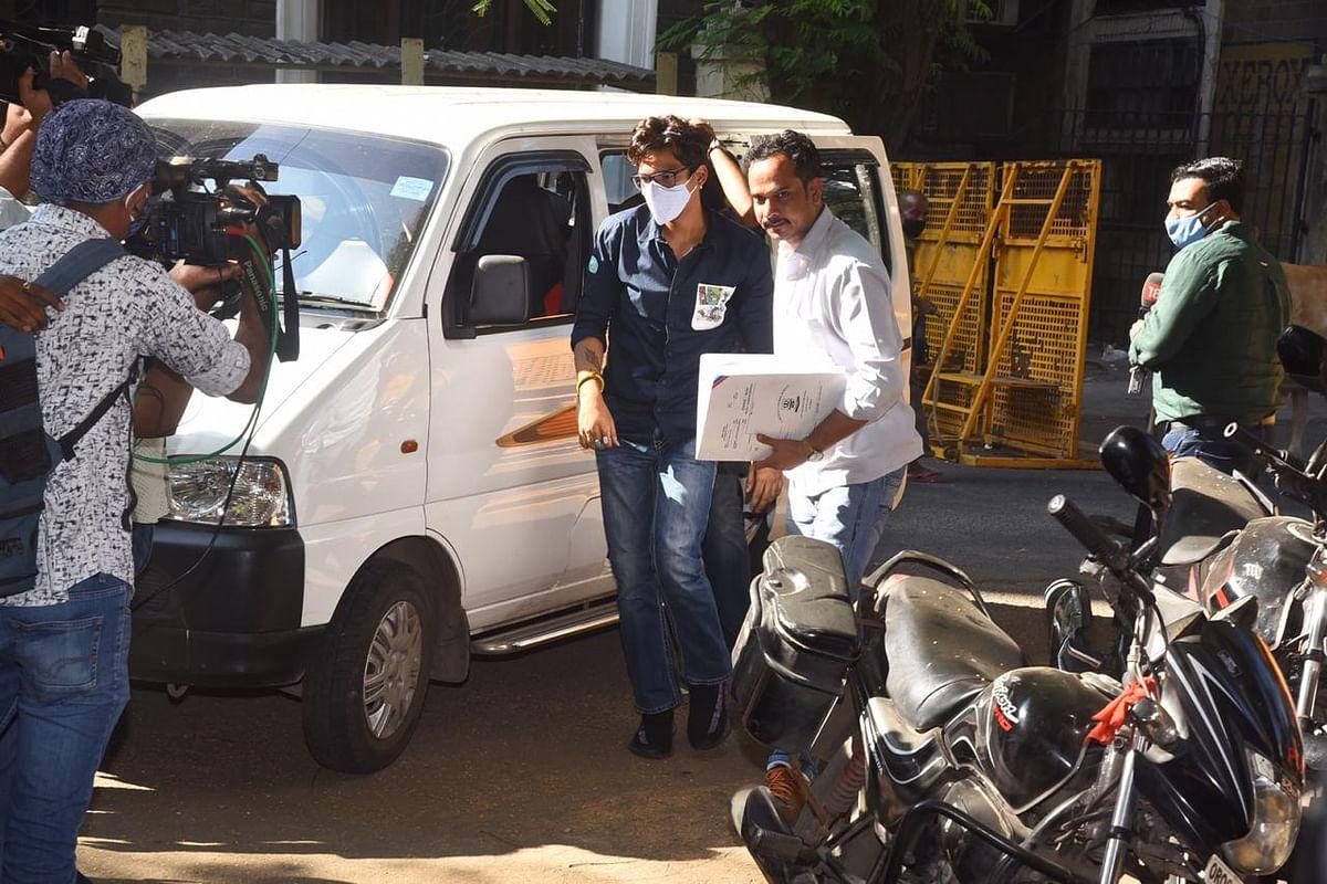 Harsh Limbachiyaa reaches NCB office.